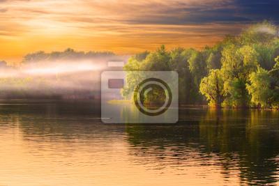 Fluss Dunst Landschaft