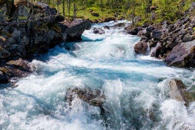 Sticker Fluss in Norwegen