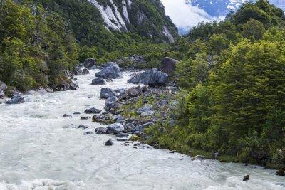 Sticker Fluss von Exploradores, Chile