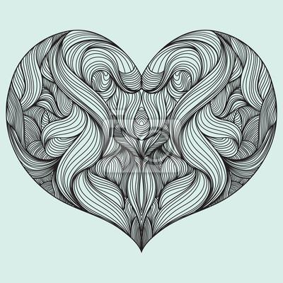 Form des Herzens