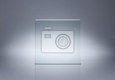 Sticker Foto von leeren Glasplatte mit Kopie Raum