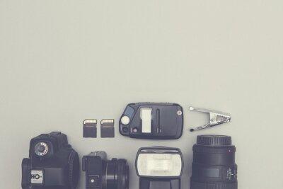 Fotoausrüstung Overhead mit Kopie Raum