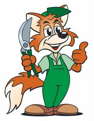 Sticker Fox Gärtner