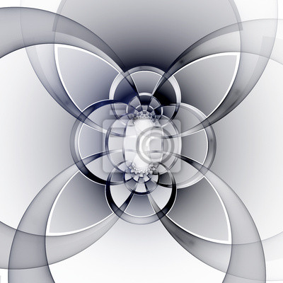 Fractal geometric pattern. Computer generated graphics.