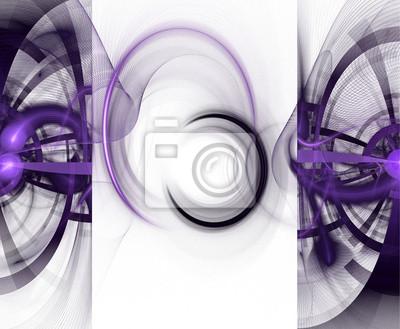 Fractal geometrische Muster. Computer generierte Grafiken.