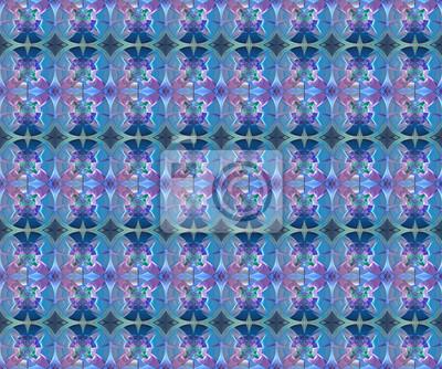 Sticker Fractal geometrischen Muster. Computer generierte Grafiken. Artwork