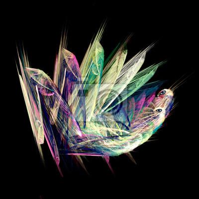 Fractal Zwei Libellen. Computer generierte Grafiken.