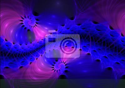 Fraktale Muster als Wellen und Spiralen. Computer generierte Grafik