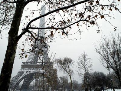 Frankreich Paris trocadero unter Schnee