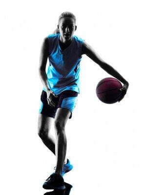 Sticker Frau Basketballspieler Silhouette