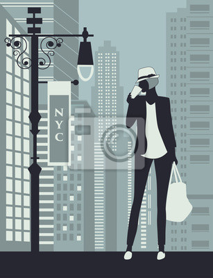 Frau In Der New York City