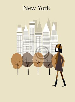 Frau in New York