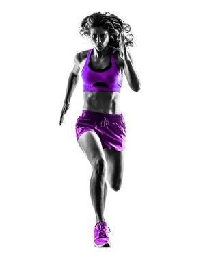 Sticker Frau running Jogger Joggen silhouette