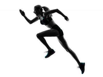 Sticker Frau running jogger silhouette