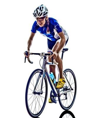 Sticker Frau Triathlon Ironman-Athleten-Radfahrer Radfahren