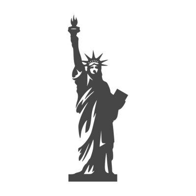 Sticker Freiheitsstatue icon - Illustration