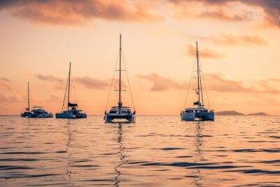 Sticker Freizeit-Yachten am Indischen Ozean