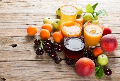 Sticker  Fresh fruits juices
