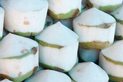 Sticker Frische Kokosnüsse auf dem Markt