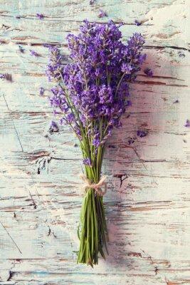 Sticker Frische Lavendel auf Holz