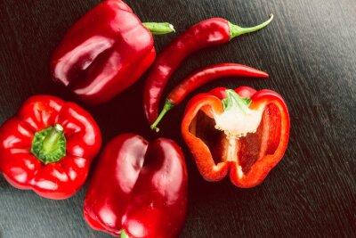 Sticker Frisches Gemüse Bunte Paprika