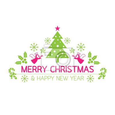 Frohe Weihnachten mit Icons Dekorieren