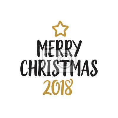 Frohe Weihnachten Schrift.Sticker Frohe Weihnachten Schriftzug Und Stern