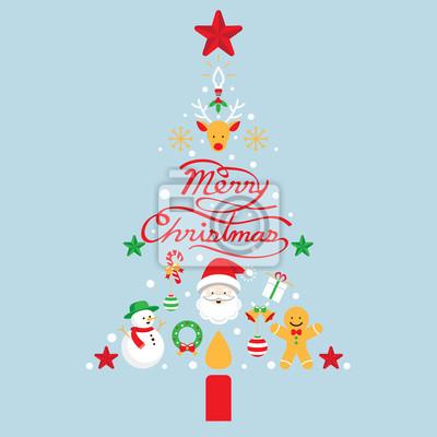 Frohe Weihnachten, Symbole in Weihnachtsbaumform
