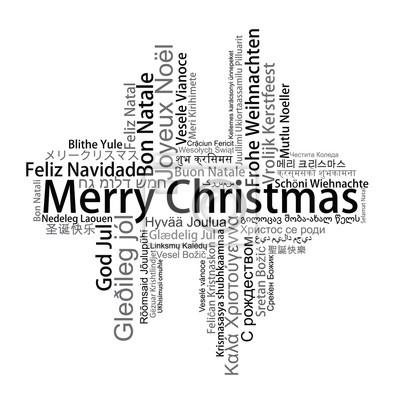 Frohe Weihnachten In Verschiedenen Sprachen.Sticker Frohe Weihnachten Tag Cloud In Verschiedenen Sprachen Vektor
