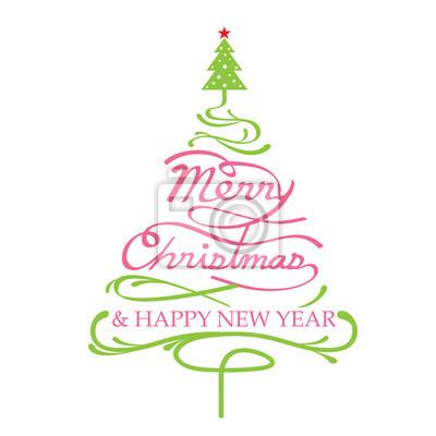 Frohe Weihnachten, Weihnachtsbaum Form