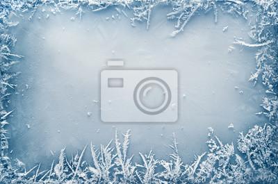 Sticker Frost Kristallrand auf Eis