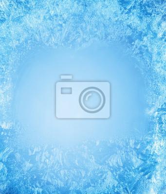 Sticker Frosty Muster auf dem Rand eines gefrorenen Fenster.