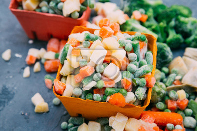 Sticker Frozen vegetables Mexican mix