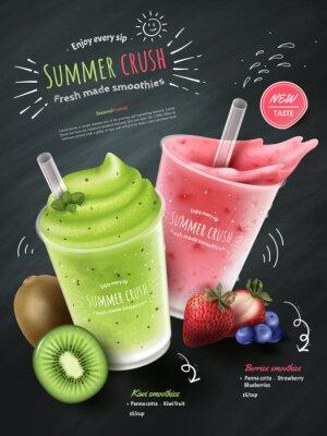 Sticker Frucht Smoothies Anzeigen