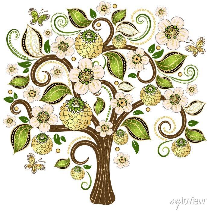 Sticker Frühling dekorative Baum