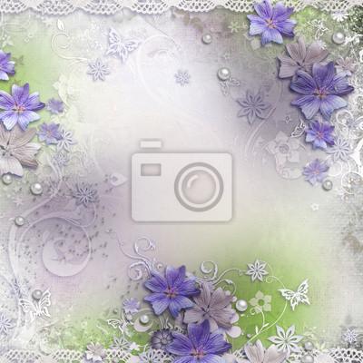 Frühling Hintergrund mit Blumen