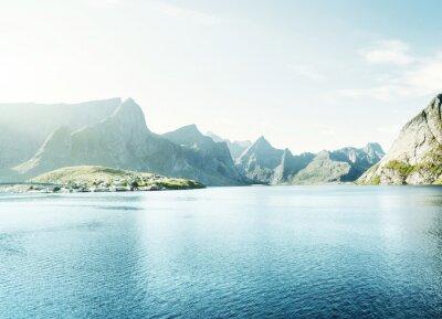Sticker Frühling Sonnenuntergang - Reine, Lofoten Inseln, Norwegen