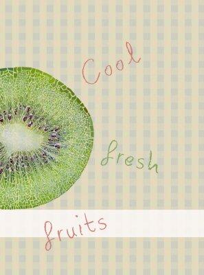 Sticker Fruits Thema Hintergrund