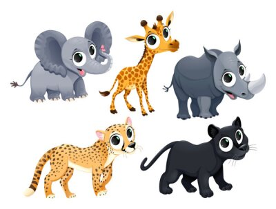 Sticker Funny african animals