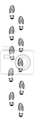 Fußabdruck Spur