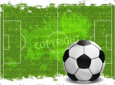 Sticker Fußball-Design Hintergrund