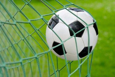 Sticker Fußball fliegt ins Tor!