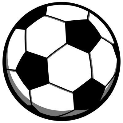 Sticker Fußball-Spielball
