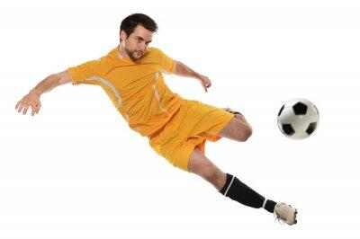 Sticker Fußball-Spieler in Aktion