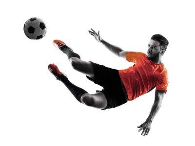 Sticker Fußball-Spieler Man isoliert Silhouette