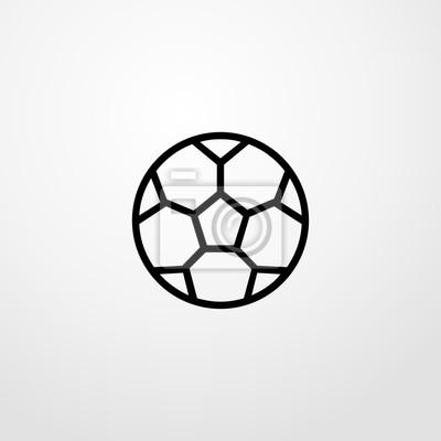 Fussball Symbol Illustration Isoliert Vektor Zeichen Symbol