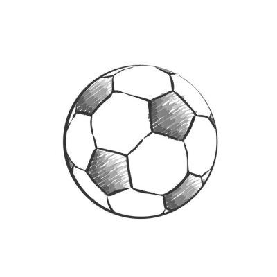 Fussball Symbol Skizze Fussball Zeichnung In Doodles Stil