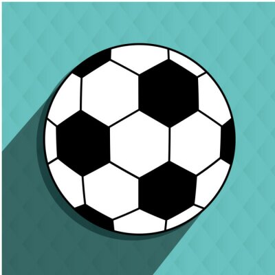 Sticker Fußballfußballentwurf