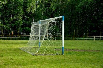 Fußballnetz im Abendlicht