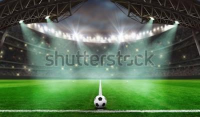 Sticker Fußballspiel beginnt - Fußball im Stadion